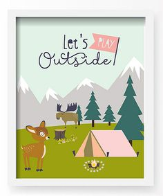 Loving this 'Let's Play Outside' Wall Art on #zulily! #zulilyfinds