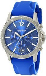 Caravelle New York Men's 43A117 Analog Display Japanese Quartz Blue Watch