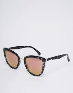 Quay Australia - My Girl - Lunettes de soleil yeux de chat à verres roses  effet b67005243129