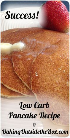 #BakingOutsidetheBox | The key to these low carb pancakes are almond flour and ricotta. Make it up in the blender quickly. Just over 1 net carb er pancake.: