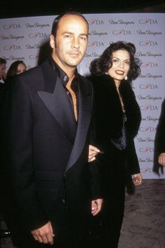 Tom Ford and Bianca Jagger in 1996