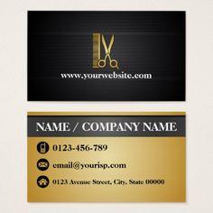 #createyourown #customize - #Elegant Black Gold Hair Salon (Personalize) Business Card