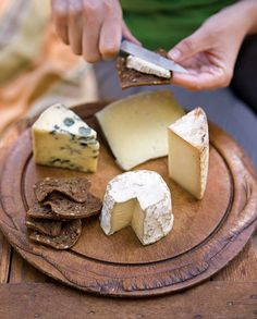 Nice cheese tray for a Summer Picnic from Williams Sonoma