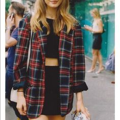 90s clueless style plaid blazer Perfect condition. So many ways you could wear this. I DO NOT TRADE Jackets & Coats Blazers