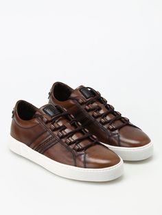 #Italist - #Tods Vintage Leather Sneakers - AdoreWe.com