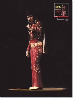 Elvis Presley | Hampton Roads Coliseum 2:30pm Hampton Roads, Richmond, Virginia  April 10, 1972 (Tickets: 11,000) Costume: Red Pinwheel Suit/ Red Matador Suit/ Red Burning Love Suit - This concert was filmed for the documentary movie Elvis On Tour.