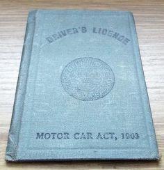 1930 County of Middlesex Drivers Licence Vintage Driving Motor Car, Ephemera, Etsy, Vintage, Car, Automobile, Vintage Comics