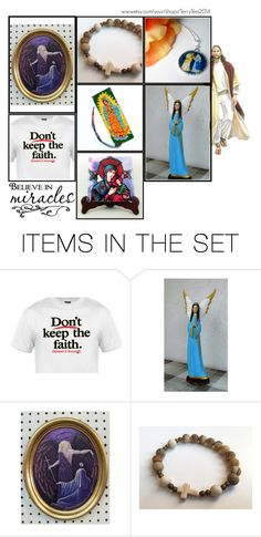 """Religious Art on Etsy by TerryTiles2014 - Volume 235"" by terrytiles2014 ❤ liked on Polyvore featuring art, etsy, catholic and religious"