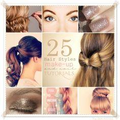 simpele opsteekmethodes, samen met enkele make-up tips en nagelkunst