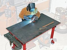 Good write up about building a big and beefy welding table