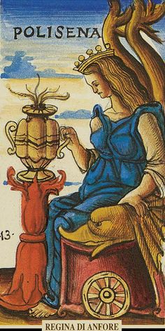 Queen of Cups - Sola-Busca Tarot
