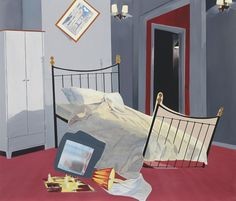 Dexter Dalwood (British, b. 1960), Room 100, Chelsea Hotel, 1999. Oil on canvas, 183 x 213 cm.