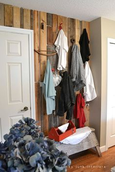 Pallet Wall Wardrobe- Funky Junk Interiors
