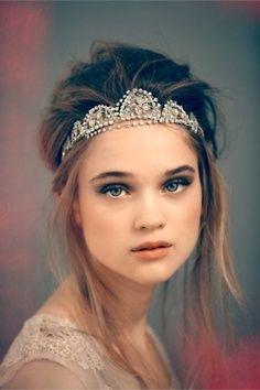 jeweled holiday tiara updos   Wedding Hairstyles