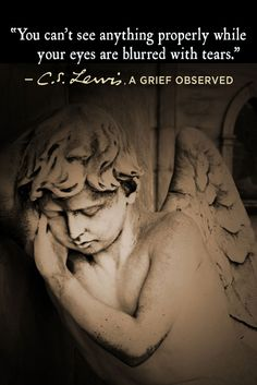 Written after his wife's tragic death, 'A Grief Observed' is C. Lewis's unflinchingly honest reflection on life, death, and faith in the midst of loss; how a believer lost his sense of meaning in. Complicated Grief, Cs Lewis Quotes, Book Quotes, Wise Quotes, Beautiful Words, Cool Words, Quotes To Live By, Favorite Quotes, Bible Verses