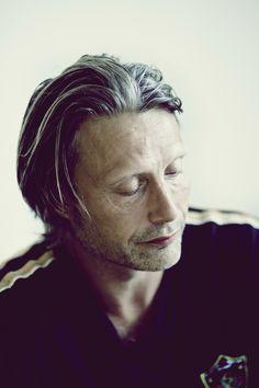 Mads Mikkelsen, Danish, actor, male, celeb, powerful face, intense, strong, gesture, portrait