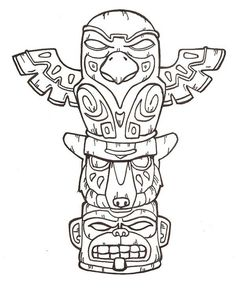 totem pole craft template - Google Search