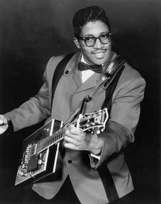 """""""Ellas McDaniel known as Bo Diddley, nicknamed """"the Originator"""" for his role in the transition from blues to rock and roll, drove music into a new era with his rollicking rhythms and edgy guitar"""" Rhythm And Blues, Jazz Blues, Blues Music, Music Icon, Soul Music, My Music, Music Radio, Rock And Roll, Pop Rock"""