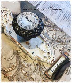 Iron Orchid Designs molds tutorial, vintage, clock