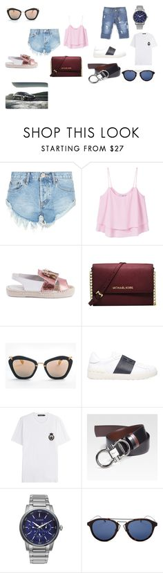 """JD"" by jelaxoxo ❤ liked on Polyvore featuring One Teaspoon, MANGO, Michael Kors, Miu Miu, Valentino, Dolce&Gabbana, Salvatore Ferragamo, Citizen and Christian Dior"
