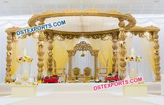 #Indian #Wedding #Wooden #Damroo #Mandap #Dstexports