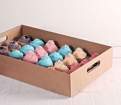 Dolci e graziose scatole in cartone per cupcake e muffin - SelfPackaging