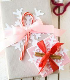 Cool idée avec le papier cadeau Noel original