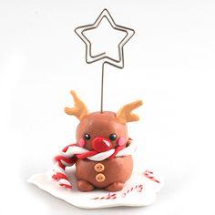 Tuto porte nominette renne sur www.123crea.fr #pâtepolymère#cernit#christmas