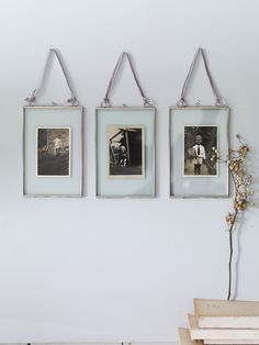 Three Delicate Hanging Frames- Silver - Photo Frames - Decorative Home - Indoor Living Rustic Wall Art, Rustic Walls, Hanging Frames, Piece A Vivre, Hanging Pictures, Deco Design, Decoration, Interior Inspiration, Interior And Exterior