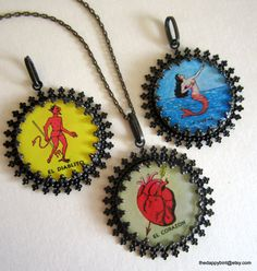 Mexican Lottery Necklace. I like the mermaid