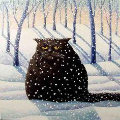 Katje in de sneeuw