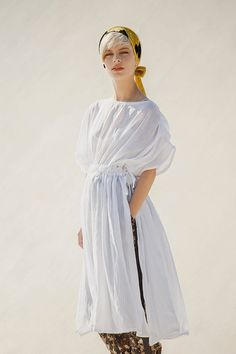 Silk Cotton chifon dress tunic with waist tying by jenfashion