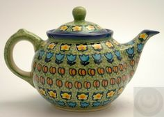 The .7 Liter Teapot, Amsterdam pattern. Polish Pottery Outlet.