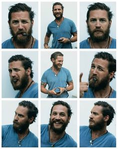 Tom Hardy. Fucking sexy as shit, beard   Tom Hardy= raw sexual sexiness.