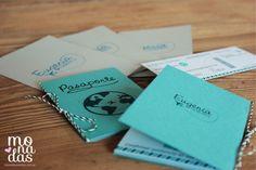 """Invitaciones """"Pasaporte"""" 15 años #invitación #quinceaños #quinceañera #tarjeta #pasaporte #passport #viaje #15 #monadas http://www.monadaseventos.com.ar/invitaciones-pasaporte-15-anos-en-turquesa/"""