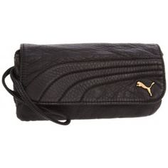 Puma Black Remix Checkbook Wristlet Wallet www.silverhooks.com
