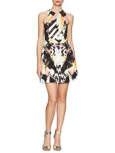 Printed Fit And Flare Dress by Balmain at Gilt