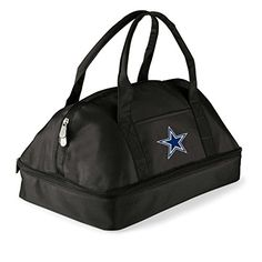 NFL Dallas Cowboys Potluck Digital Print Tote One Size Black >>> Click on the image for additional details.-It is an affiliate link to Amazon. #CampKitchenEquipment