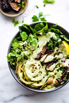 Eat your greens! Fig fan @CotterCrunch created gorgeous Green Goddess California Fig Nourish Bowls as a tantalizing way to welcome spring. (Bonus, they're paleo & glutenfree too). Eat up!