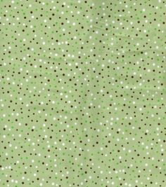 Snuggle Flannel Fabric-Green/Brown Dot