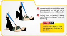 Loosen stiff joints (exercise / resistance bands should be used under professional supervision & guidance).
