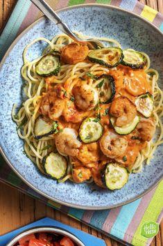 Scampi Curry, Hello Fresh Recipes, Vegetarian Recipes, Healthy Recipes, Happy Foods, Pesto Pasta, Lunches, Pasta Recipes, Love Food