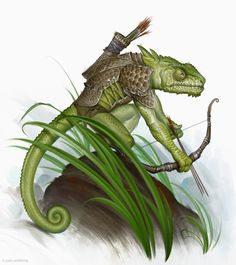 Chameleon scout by Turkish artist, Firat Solhan for Paizo Publishing (Pathfinder series). More Solan here: http://firatsolhan.deviantart.com/