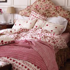 love and kisses luxury duvet set by fifty one percent | notonthehighstreet.com