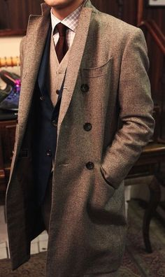 Formal Winter Overcoat Over Pea Coat Preppy Trad Ivy League Style Heritage Navy Blue Peacoat Men/'s Size 46 L Extra Large Long