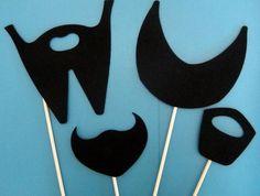 Beards on a stick. $15.95, via Etsy.