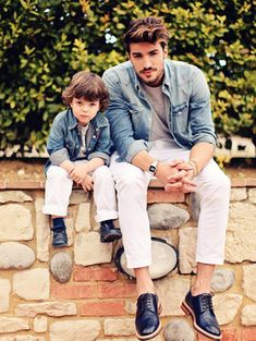 The ultimate secret to cool dad dressing and his mini-me fashion shadow!