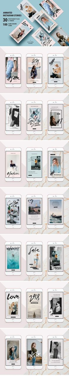 ANIMATED Modern Instagram Stories by SilverStag on @creativemarket #socialmedia #socialmediamarketing #posts #instagram #design #creative #influencer #photoshop #stylish #modern #marketing #template #stories #fashion #animated