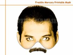 Unique Freddie Mercury Printable Mask,costumes,musician,pop Star masks,party decoration,birthday,photo booth props,kids,celebrity by AmazingPartyShop on Etsy https://www.etsy.com/listing/220589477/unique-freddie-mercury-printable