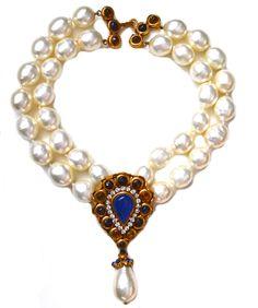 Chanel Gripoix Mogul Necklace / Pearl - Sarara Couture